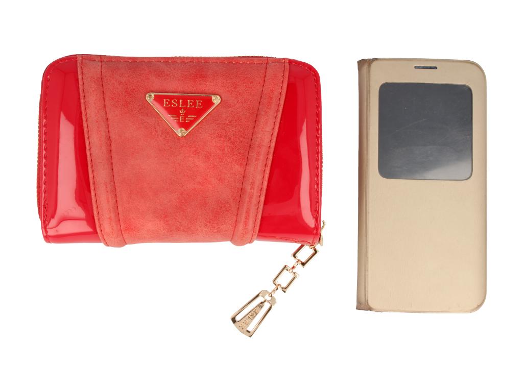 28f5630894855 Portfel damski czerwony lakierowany mały Sklep PINK BOX